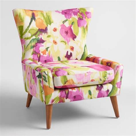 Floral Living Room Chairs Watercolor Floral Accent Chair World Market