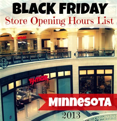 minnesota black friday 2013 store opening times real