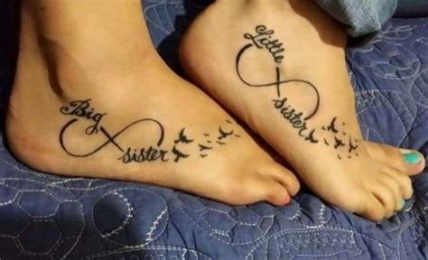 picture of tattoos with infinity sign birds and words