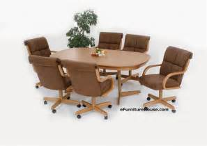 Dining Table Chairs With Rollers Dining Table Dining Table And Chairs With Casters