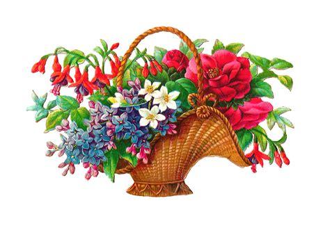 Flower Basket by Antique Images Free Flower Basket Clip 2 Wicket