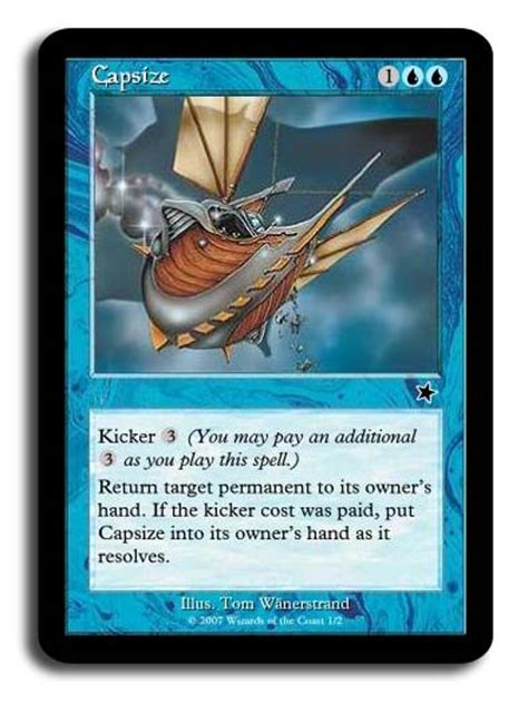 Blue Magic Card Template by The Magnificence Of Kicker Magic The Gathering