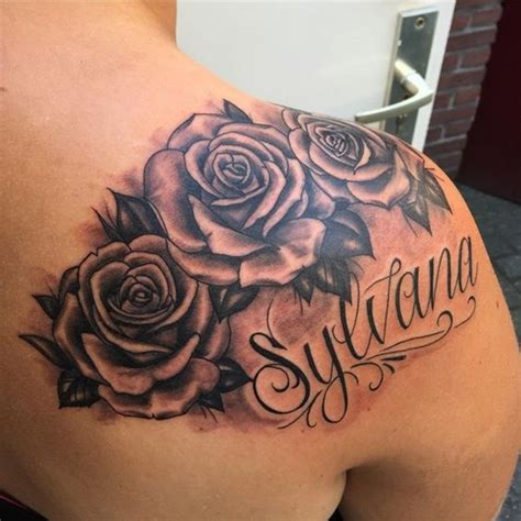 rose tattoo with name designs 90 name tattoos that will you yelling what s my name