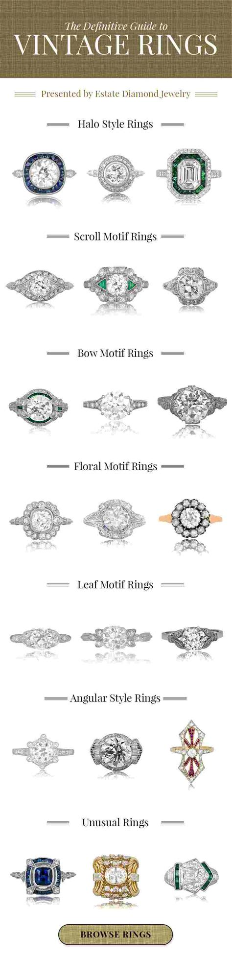 styles of vintage engagement rings vintage rings style guide estate jewelry