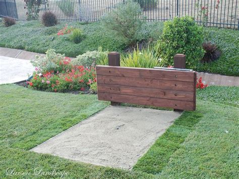 backyard horseshoe pit horseshoe pit ideas simi valley garden horseshoe pit