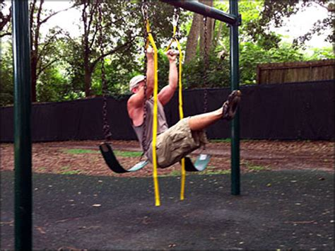 swing set rows diy suspension trainer high intensity training by drew baye