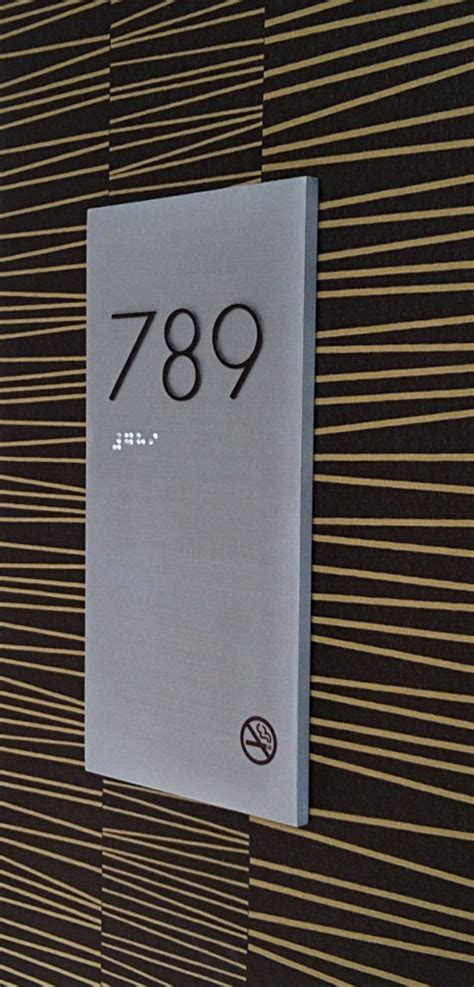 hotel room number signs hotels hospitality franklin sign company