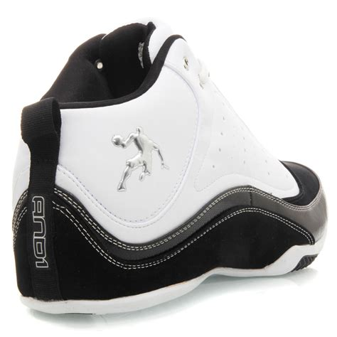 and1 ambush mid mens basketball shoes white black