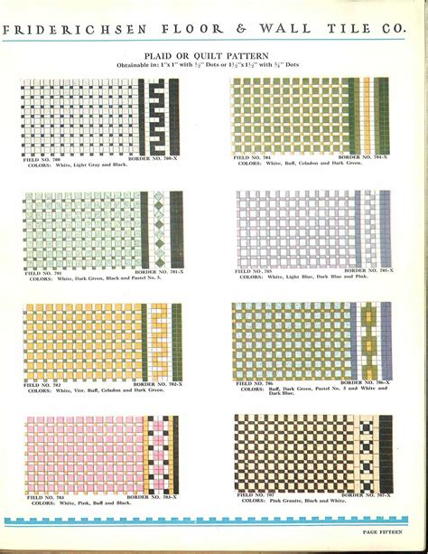 112 patterns of mosaic floor tile in amazing colors friederichsen floor amp wall tile catalog