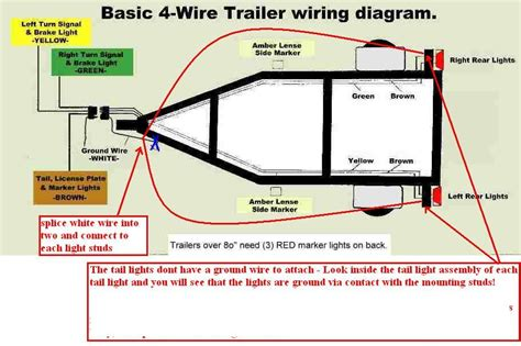 i need a 4 wire trailer diagram trailer light diagram