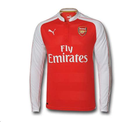 Arsenal Home 1516 15 16 arsenal home sleeve soccer jersey shirt