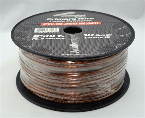 10 ga 10ft 10ft black power ground wire cable copper