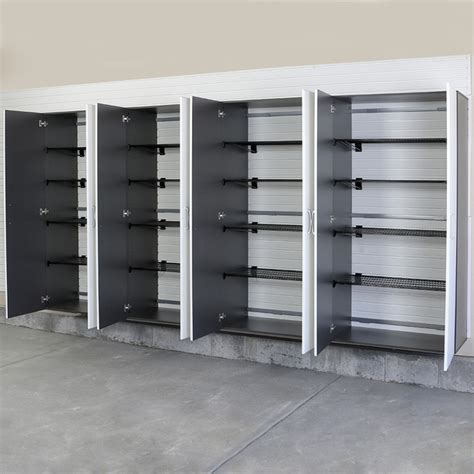 Jumbo Storage Cabinet 4pc Jumbo Cabinet Storage Center Silver