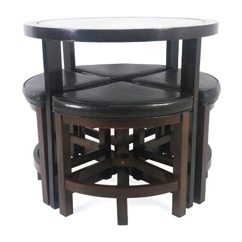 circular dining table for 4 73 circular dinette with 4 chairs tables