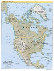 Map Of Nort America by North America Map Geography And Maps Of North America