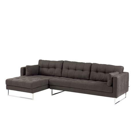 hand sofa paris left hand corner sofa dark grey dwell