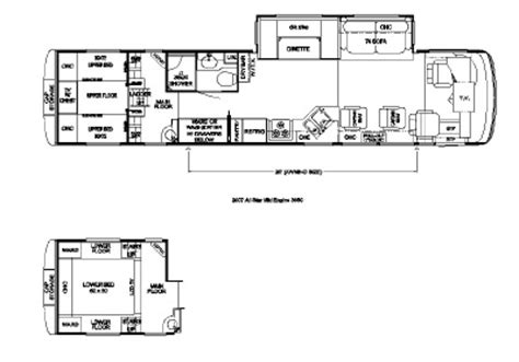 newmar floor plans 2007 newmar all star atme 3950 floorplan