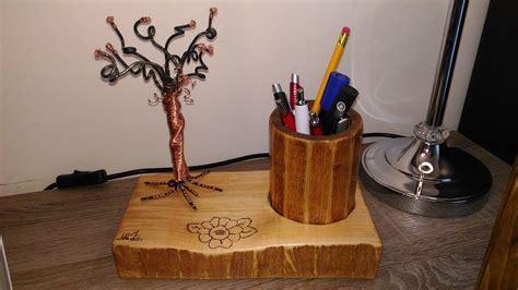 ladario fai da te legno porta penne in legno ferro e rame fai da te con pirografia