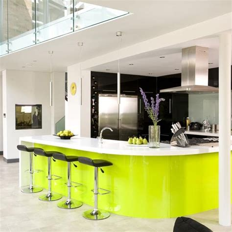 sustainable kitchen design lime green kitchen cabinets weird and wonderful kitchens