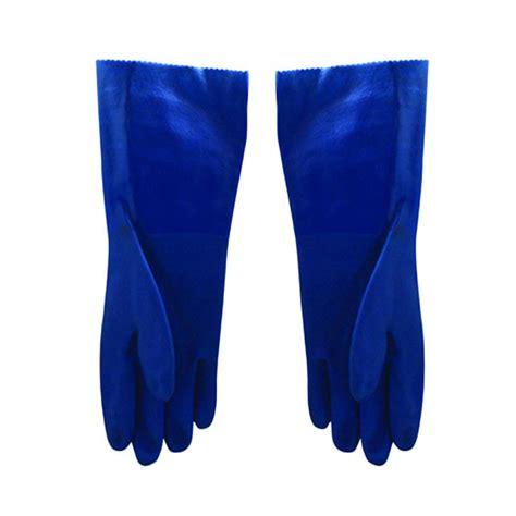 Sarung Tangan Pvc jual pvc sarung tangan blue 14 inch