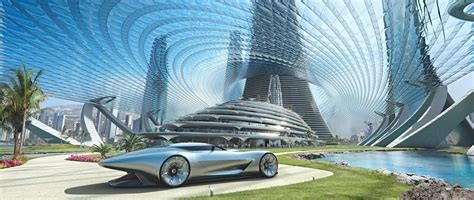 Futuristic Living Room by Mercedes Benz Future World A Vision