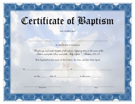 free printable baptism certificate all free printable