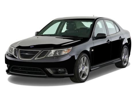 image 2009 saab 9 3 4 door sedan aero awd angular front