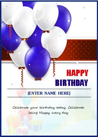 Ms Word Birthday Invitation Card Template by Ms Word Creative Design Happy Birthday Cards Document