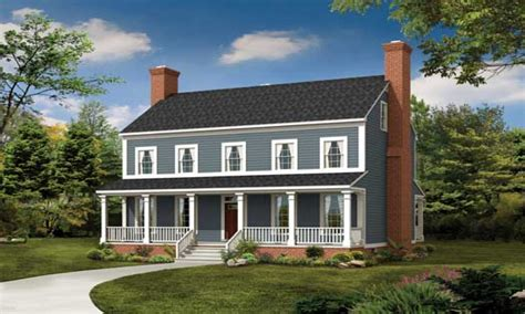 2 Story Colonial Front Makeover 2 Story Colonial Style Farmhouse Plans