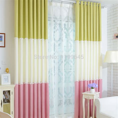 Pink And Green Curtains Nursery 2015 Sales Linen Three Color Half Blackout Curtain Curtains Pink Green American Curtains For