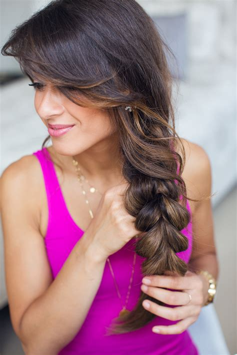 hairstyle with 2 shoulder braids two strand braid hairstyle luxy hair