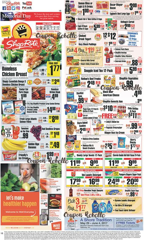 printable grocery coupons nj shoprite weekly ad preview week of 5 28 17 coupon rebelle