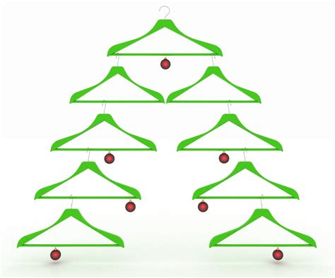 christmasbtrees out of hangers how to