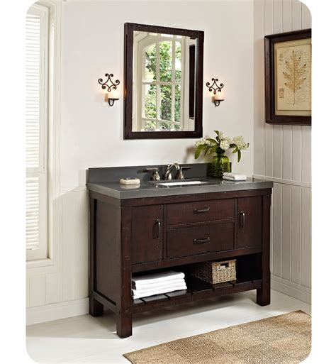bathroom vanity open shelves fairmont designs 1506 vh48 napa 48 quot open shelf modern bathroom vanity
