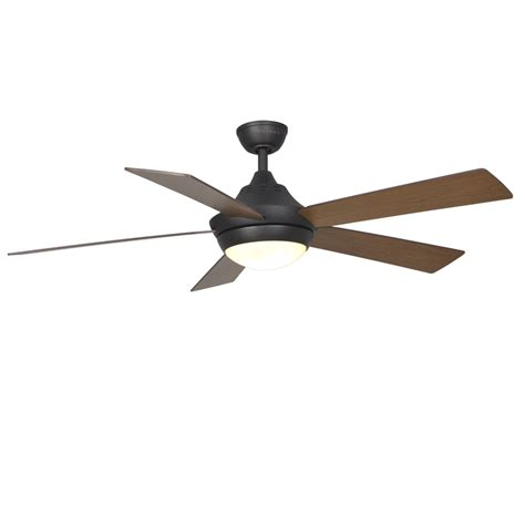 Shop Harbor Breeze Platinum Portes 52 In Aged Bronze Harbor Ceiling Fan Light