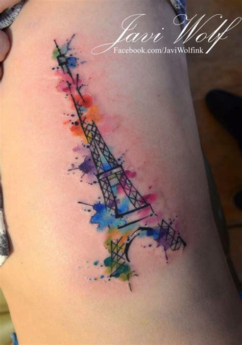eiffel tower tattoo on hand watercolor eiffel tower d dise 241 o y estilo propio