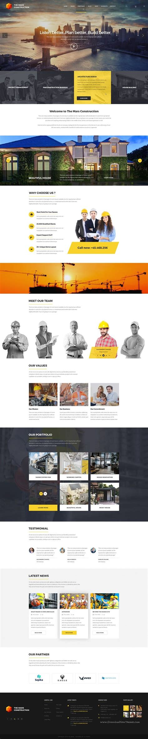 The Mars Is Creative Psd Template Ideal For Creative Agency Corporate Business Portfolio Construction Portfolio Template