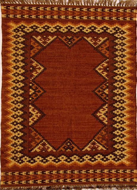 Southwestern Area Rugs Handwoven Jute And Wool Southwestern Rug Copper Beige And Brown 4 X6 Southwestern Area