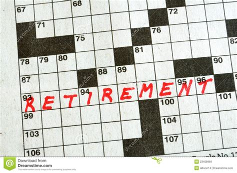 printable retirement puzzles the word retirement on crossword puzzle royalty free stock