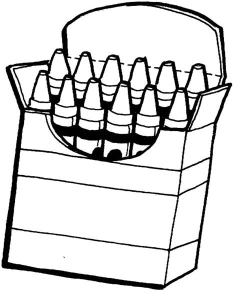 Box Of Crayons Coloring Pages Crayon Coloring Pages Printable