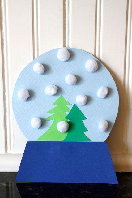 snow globe craft for easy craft pom pom snow globe mpmk