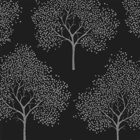 glitter tree wallpaper black silver glitter ilw980028