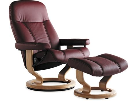 stressless consul recliner stressless 174 consul leather recliner