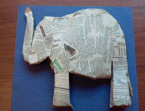 How To Make An Elephant With Paper - paper mache elephant 12 easy diy ideas guide patterns