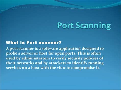 port scanning port scanning