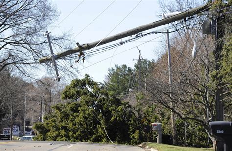 march on line michigan storms knock trees power lines away