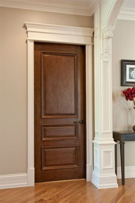 Interior Door Custom Single Solid Wood With Walnut Mahogany Interior Doors