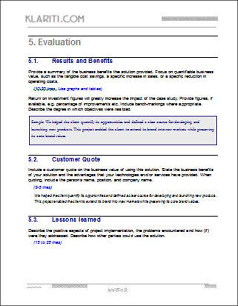 case study template pack 6 pre formatted templates in ms