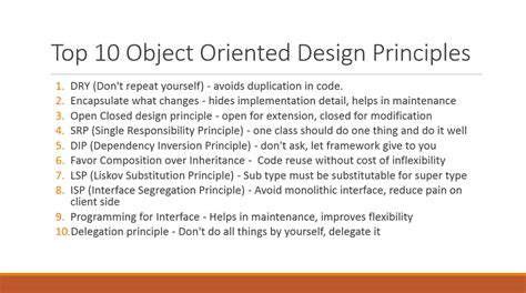 object oriented design tutorial java 10 object oriented design principles java programmer