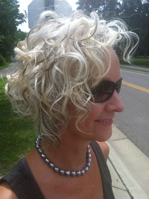 short hair styles kinky gray hair classic curly bob hairstyle image ideas for older women